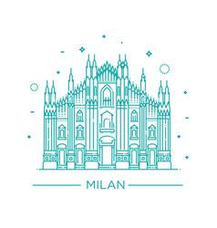 line milan cathedral milan vector image