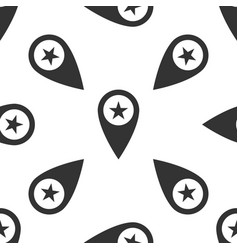map pointer with star isolated seamless pattern vector image