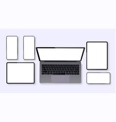 minimalistic set device vector image