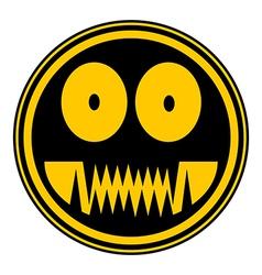 Monster button vector