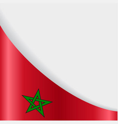 Moroccan flag background vector