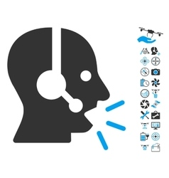 Operator Message Icon With Air Drone Tools Bonus vector