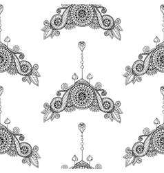 Ornamental seamless ethnic black and white pattern vector image