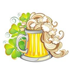 Patricks beer vector image