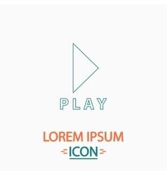 Play button computer symbol vector image