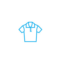Polo shirt thin line stroke icon polo vector