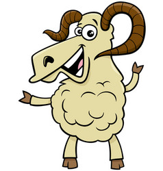 Ram farm animal cartoon character vector
