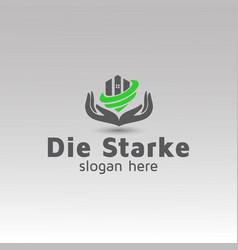 Real estate property management logo design vector