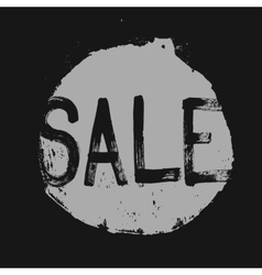 Sale label in a grunge style vector image