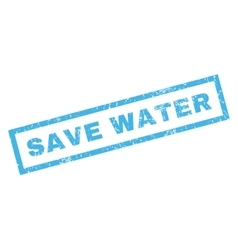 Save Water Rubber Stamp vector image