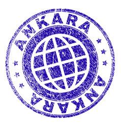 Scratched textured ankara stamp seal vector