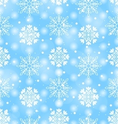 Seamless texture with variation snowflakes vector