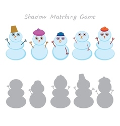 Set of cute cartoon funny snowman isolated on vector