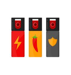 set of self defense spray bottles vector image
