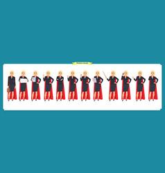 set of super businesswoman character vector image