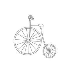 Silhouette of classic vintage bike isolated vector
