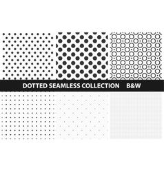 Simple dotted patterns Seamless vector