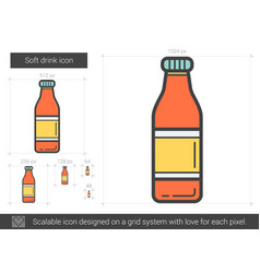 Soft drink line icon vector