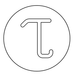Tau greek symbol small letter lowercase font icon vector