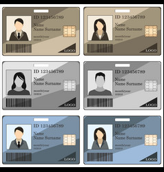 template id card vector image