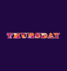 Thursday concept word art vector