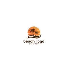 tropical beach sunset landscape premium vector image