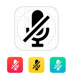 Turn off microphone icon vector image