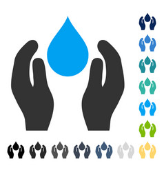 Water care icon vector