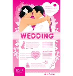 wedding infographic set vector image