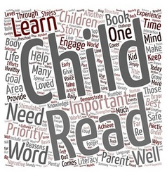 Why You Should Read To Your Child text background vector image
