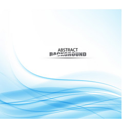 blue wave business template vector image vector image