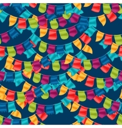Celebration holiday seamless pattern with garland vector