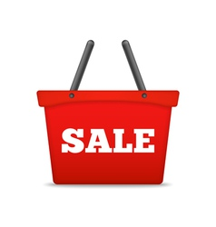 Shopping Basket with Sale Word vector image vector image