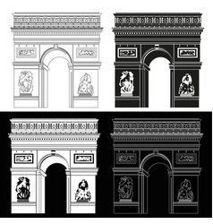 triumphal arch in black and white vector image