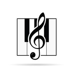 Violin key icon vector