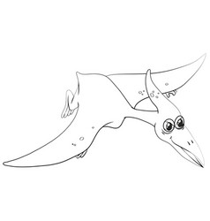 animal outline for pterosaur vector image vector image