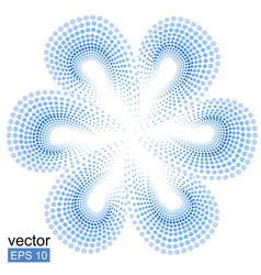 blue tiare flower doted pattern monoi flower vector image vector image