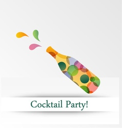 Colorful cocktail party invitation vector image vector image