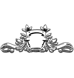Decorative element of the facade vector image