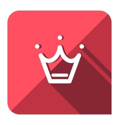 Favorite crown icon vector image vector image