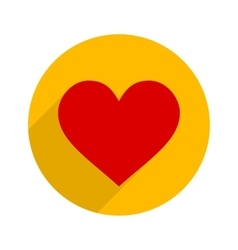 Flat Style Heart Icon vector image