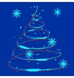 glowing Christmas light vector image vector image