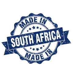 made in south africa round seal vector image vector image