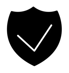 Security shield silhouette icon 48x48 vector