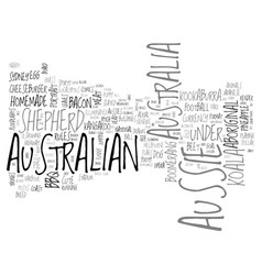 Aussie word cloud concept vector