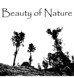 beauty of Nature with landscape scenery with trees vector image
