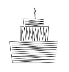 birthday cake drawing vector image
