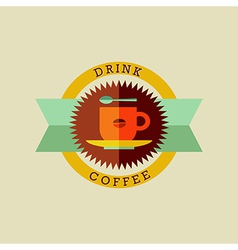 Drink coffee badge set vector image vector image