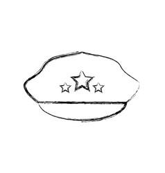police hat cartoon vector image