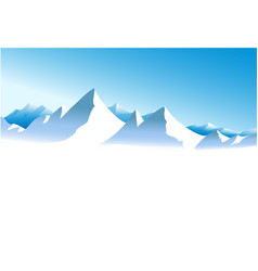 winter white mountains vector image vector image